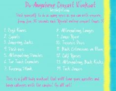 Do anywhere circuit workout