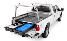 Custom Organizers And Tool Boxes For Trucks And Vans Decked Truck Bed Storage Decked Truck Bed Truck Bed