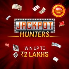On a hunt for a Jackpot?  Make a minimum deposit of Rs.50 and play cash games to win up to Rs.2 Lakhs in cash prizes. Join the tables! #Rummy