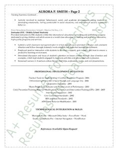 special education teacher resume sample page 2 - Librarian Cover Letter Sample