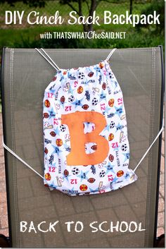 Custom Cinch Sack Tutorial!  Perfect for #backtoschool