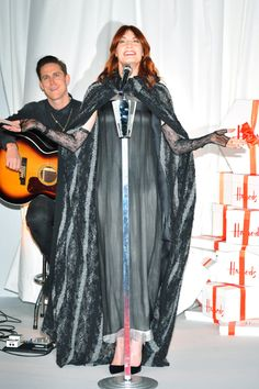 Fierce! Florence Welch performs at Harrods Winter Sale Opening