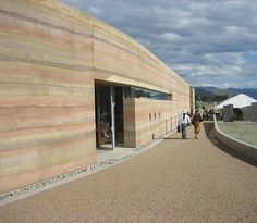 Rammed earth so pretty!