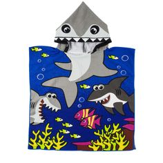 Sea of Sharks Baby Bathrobe, 65% discount @ PatPat Mom Baby Shopping App