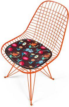 DabsMyla Wire Chair with Bird Pattern