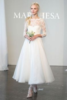 cute Marchesa wedding dress