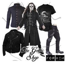 """For Him"" by thegothicshop on Polyvore featuring men's fashion and menswear"