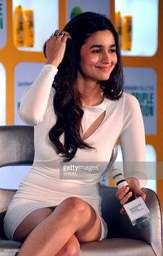 Indian Bollywood actress Alia Bhatt speaks to media during a promotional event in Mumbai on late August 11, 2014.