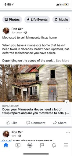 Motivated to sell Minnesota fixup home  When you have a minnesota home that hasn't been fixed in decades, hasn't been updated, has deferred maintenance you have a fixer.  Depending on the scope of the work, if it's $40,000 to $50,000 you'll have a more limited selection of buyers for a project of that size and some newer investors, new home buyers or banks may want nothing to do with the house.  If this is your house it may be a home who's windows are 20 to 50 years old. You may have a very… Compound Effect, New Home Buyer, Minnesota Home, 50 Years Old, Investors, Banks, New Homes, Windows, Lifestyle