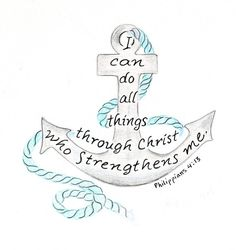 nautical anchor drawing inspirational bible by LindaRobbsArt, $10.00