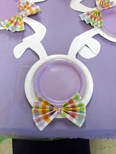 Cute place setting idea for Easter Party