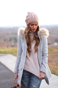 For All Things Lovely For All Things Lovely, Snow Outfit, Stay Classy, Fashion Wear, Dusty Pink, Stay Warm, Winter Outfits, Casual Outfits, Parka