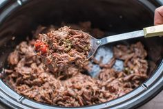 Slow Cooker Mexican Shredded Beef - The Magical Slow Cooker Crockpot Recipes For Kids, Vegetarian Crockpot Recipes, Slow Cooker Recipes, Mexican Food Recipes, Beef Recipes, Healthy Recipes, Mexican Shredded Beef, Pulled Beef, The Magical Slow Cooker