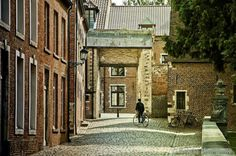 Bicycles and brick buildings, how's that for inspiration? Leuven, Belgium.