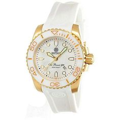 Deep Blue Lady Blue Sea Ramic White Mother of Pearl Dial Ladies Watch