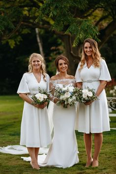 Wedding of the Week: Jessica Duncan and William Muse at Dorfold Hall, Cheshire | White bridesmaids' dresses | bridemagazine.co.uk