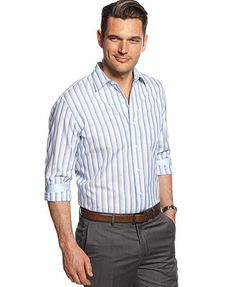 Tasso Elba Marcus Ombre Striped Shirt