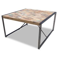 Industrial + Recycled Square Dining table - 140 x 140cm - Only 1 Left!