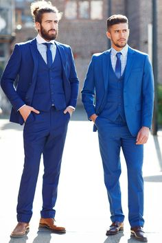 Mens Suit | Cobalt | Blue | Evening | Three Piece Suit | Marc Darcy  Marc Darcy Menswear