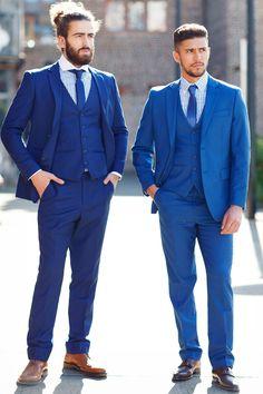 Mens Suit | Cobalt | Blue | Evening | Three Piece Suit | Marc Darcy  Marc Darcy Menswear