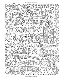 Coloring On the Go Inspirational Notebook Doodles Go Girl Coloring & Activity Bo. - Coloring On the Go Inspirational Notebook Doodles Go Girl Coloring & Activity Book Jess - Quote Coloring Pages, Printable Adult Coloring Pages, Coloring Sheets, Coloring Books, Free Coloring Pages, Design Lotus, Paisley Design, Notebook Doodles, Color Quotes