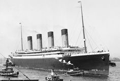 RMS Olympic arriving in New York on her maiden voyage, June 1911.