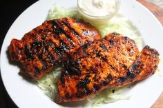Spicy Grilled Chicken Breast with Step by Step Pictures. Grilled Chicken Breast is easy and juicy chicken breast. Grilled Chicken Breast Recipes, Perfect Grilled Chicken, Spicy Grilled Chicken, Marinated Chicken Recipes, Spicy Recipes, Curry Recipes, Indian Food Recipes, Cooking Recipes, Chicken Bacon
