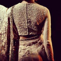 Sabyasachi Mukherjee love the detail of the blouse my favourite Indian designer sir you make us poud!