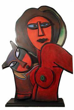 Corneille (1922-2010) was een Nederlandse Cobra-schilder. In 1950 verhuisde hij van Amsterdam naar Parijs en reisde meermalen naar andere delen van de wereld: Noord-Afrika, Noord-Amerika, de Antillen en Zuid-Amerika. Deze reizen bepalen in hoge mate de aard van zijn werk. Vanaf 1960 viel hij terug op figuratieve kunst, waarbij vrouwen, vogels, bloemen en vaak personages tot zijn artistiek vocabularium behoren.