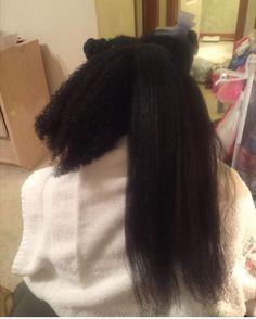 Shrinkage Natural Hair Care Tips, Long Natural Hair, Natural Hair Growth, Natural Hair Styles, Black Hair Care, Long Black Hair, Dark Hair, Brown Hair, Chelsea Houska Hair