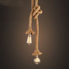 Retro Rope Pendant Light Loft Vintage Lamp Restaurant Bedroom Dining Room DIY Decorative Pendant Hand Knitted Hemp Rope Light-in Pendant Lights from Lights & Lighting on Aliexpress.com | Alibaba Group
