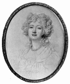 A unfinished sketch of Madame du Barry by Richard Cosway. This sketch was drawn from life in 1791 and is the last known portrait that Madame...