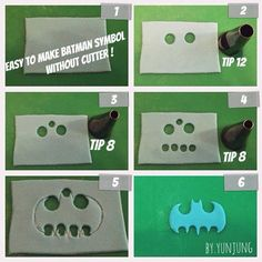 how to make batman symbol cake - Google Search