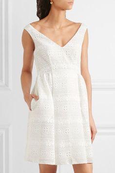 REDValentino - Crocheted Lace Mini Dress - White - IT44