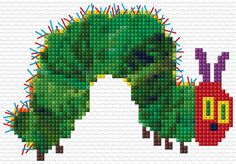 Very Hungry Caterpillar Cross Stitch Pattern PDF by WhistlingDoe Cross Stitch For Kids, Cross Stitch Baby, Cross Stitch Animals, Cross Stitch Charts, Cross Stitch Designs, Cross Stitch Patterns, Cross Stitching, Cross Stitch Embroidery, Embroidery Patterns