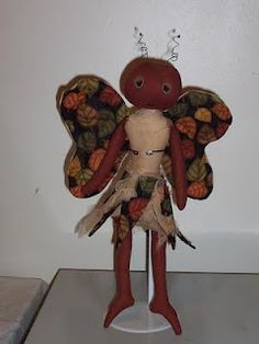 My Autumn Moth Doll.  She is my first primitive doll.