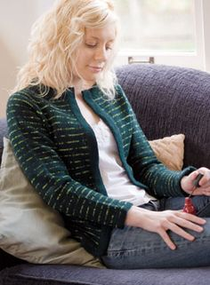 Classic Lines Cardigan Pattern - Free Knitting Patterns by Alison Backus