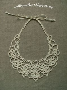 New life into traditional crafts - Polish #necklace #tatted #tatting #tat