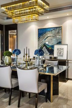 Gorgeous Dining Table | Dining Room Design. Home Décor. Modern Design. Contemporary Dining Room. Decorating Ideas. | Find more room designs at http://brabbu.com/shopbyroom/?utm_source=pinterest&utm_medium=ambience&utm_content=dmartins&utm_campaign=Pinterest_Inspirations