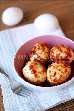 Sambal Telur Recipe (Egg Sambal) - Easy Recipes at RasaMalaysia.com