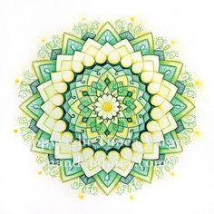Emerald lotus #mandala art from Mandalafairy.com