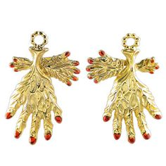weird leaf hand earrings by salvador dali, 55 bucks in the dali museum shop