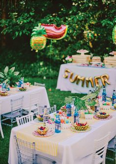 Colorful, Chic & Fruity SUMMER Kids Party // Hostess with the Mostess®