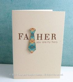 This is one of my favorite father's day cards that I've come across so far. Simple, and the colors go well together.