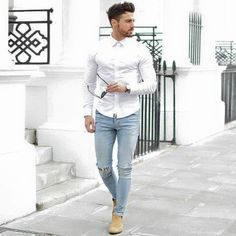 Dashing White Shirt With Jeans