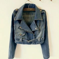 Fashion Slim Fit Short Denim Coat Motorcycle Jacket WC050