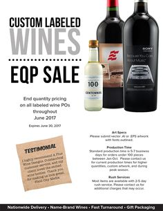 Wine is still flowing... EQP sale on custom labels!