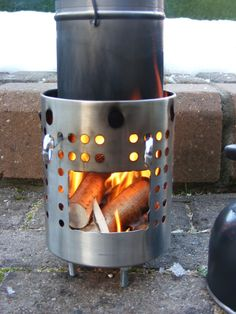 Make Your Own Fancy Feast Stove Twig Stove Hybrid