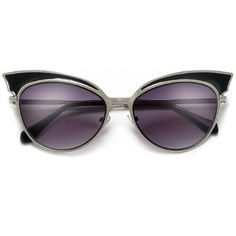 Diva Full Metal Wing Tip Browline Cat Eye Sunglasses – Sunglass Spot