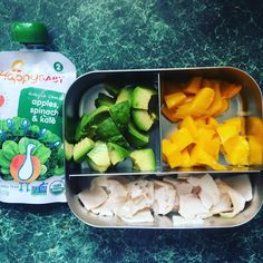 Today's on-the-go toddler lunch. A little turkey avocado and mango. . . . . . . #mom #mama #momlife #fitmom #postpartumfitness  #toddler #breastfeeding #breastfeedingmom #nursingmom #healthcoach #iin #nutritionschool #iinhealthcoach #holisticnutrition  #integrativenutrition #healthcoaching #nourishment  #eatarainbow #paleo #eatclean #cleaneating #toddler #toddlerfood #toddlermom #toddlerlife #lunch #mango #healthyfats #avocado #happybaby